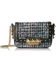 中亚:(新品)橘滋 Juicy Couture Trousdale Tweed 女士粗花呢 翻盖链条斜挎包 ¥713.48