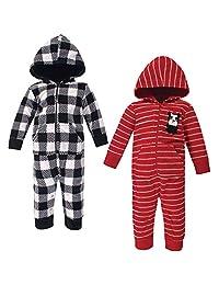 Hudson 男婴中性款婴儿和幼儿抓绒连身衣和连体服