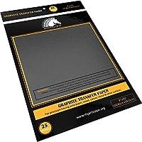 石墨转印纸 - 22.86 厘米 x 33.02 厘米 - 25 张 - 用于描摹的蜡染碳纸 - MyArtscape (黑色)