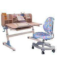 生活诚品 (智慧扬帆系列)儿童书桌椅套装学生书桌椅套装手动升降 MY8808+ZY2202+F057(蓝色)(亚马逊自营商品, 由供应商配送)