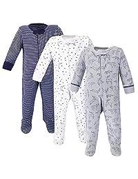 自然 touched 天然婴儿有机棉 Sleep and PLAY ,3个装