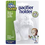 Baby Buddy ベビ�` バディ Bear Pacifier Holder ホワイトベア マルチ クリップ(シングル) 【アメリカ�u】 White ホワイト