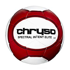 Chryso Spectral Intent Elite Match Football - White/Red, Size 5