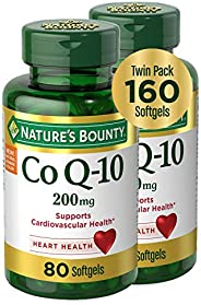 Natures Bounty 自然之宝 CoQ10膳食补充剂 200毫克2件装,160粒速释软胶囊