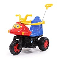 lekang儿童电动摩托车宝宝电动车婴儿玩具手推车可坐三轮车电瓶童车带可连接蓝牙功能8805 (红色)