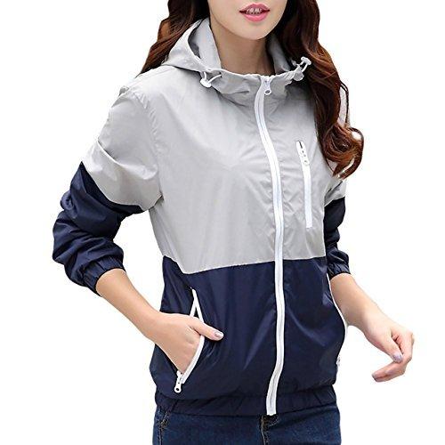 チャンピオンの女性のブレンドニットジャケット女性の産業、株式会社ボードのアイデア、方法及びプロセスポケット付きロングドレスホーン速乾性のコートのジャケットのコートの恋人、グレー、米国コードXS(ラベルサイズM)