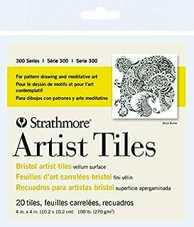 strathmore 艺术家瓷砖10.2x 10.2cm 20/ pkg-bristol vellum