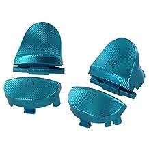 Hisonders 铝合金金属 L1 R1 L2 R2 触发按钮,带 2 个弹簧,适用于 PS4 *代控制器 蓝色
