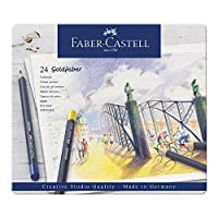 Faber-Castell 辉柏嘉 金色彩色铅笔 金属笔杆, 24-teiliges Zinn-Set