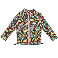 SwimZip 女童 UPF 50+ 长袖拉链*服游泳衬衫上衣