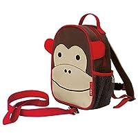 Skip Hop Zoo 动物园系列小孩幼童安全牵引带背包,适合 2 岁以上儿童,大脸猴样式