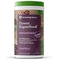Amazing Grass - 绿色Superfood ORAC饮料粉末 60 服务抗氧剂莓果 - 14.8盎司