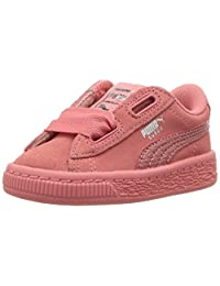 PUMA 彪马 中性儿童 麂皮绒心形休闲鞋 Shell Pink/Shell Pink 10 M US Toddler