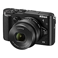 Nikon 尼康 1 V3 微单相机 豪华套机(1 尼克尔 VR 10-30mm f/3.5-5.6 PD镜头+DF-N1000电子取景器 +GR-N1010手柄) (黑色)