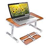 Avantree 优质可调节笔记本电脑桌床托盘,便携式立式桌 美国樱桃色