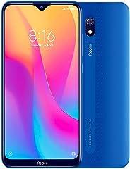 小米 Redmi 8A (32GB, 2GB RAM) 6.22 英寸高清显示屏,Snapdragon 439,5000mAh 电池,双 SIM GSM 解锁 - 美国和全球 4G LTE 国际版 32 GB 海洋蓝