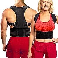 背部支撑姿势 corrector | BEST 完全可调节支撑板 | improves 坐姿和 provides 腰部支撑 | 适用于 lower 和上背*