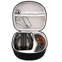 BOVKE 防震硬质手提箱旅行包适用于霍华德豹子冲击运动音效放大 OD 电耳罩,黑色 A1A37M2