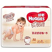 HUGGIES 好奇 铂金装 成长裤 尿不湿 中号M58+2片(适合8-11kg)