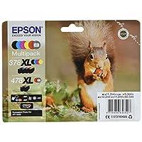 Epson C13T379D4020 XL 喷墨墨盒 - 黑色/黄色/洋红色/青色(6 件装)