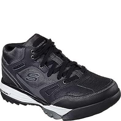 Skechers 男式新款 bigun 户外鞋黑色11D (M) 美国尺码