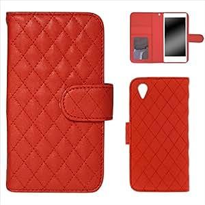 被白色坚果手机保护壳翻盖式 红色 2_ Xperia X Performance SOV33 Sony