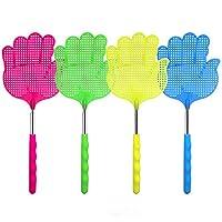 Mesti Fly Swatter 4 件装塑料不锈钢可伸缩飞盘 强韧灵活耐用伸缩手柄