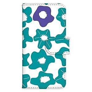 智能手机壳 手册式 对应全部机型 印刷手册 cw-156top 套 手册 花朵图案 UV印刷 壳WN-PR005193-MX AQUOS CRYSTAL Y2 403SH 图案C