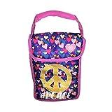 Arctic Zone 午餐盒 - 隔热折叠午餐袋双封口 Pink Hearts Peace