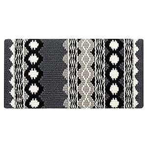 Mayatex Riverland 鞍状毯,炭灰色/奶油色/黑色