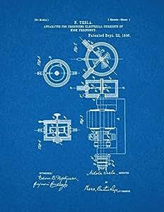 装置适用于 producing 电 currents OF 高频率打印艺术海报蓝图