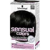 Schwarzkopf 施华蔻 Sensual Colors Dauerhafte Coloration 持久染发剂,100 黑色,3件装(3 x 142毫升)