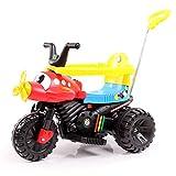 HAPPYBRAND儿童电动车三轮推车可坐推杆卡通小孩玩具宝宝推车-888 (飞机款)