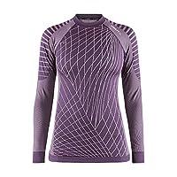 Craft 女士 绿标贴身层 运动内衣 活力系列 适合中高运动强度 温度-5°C到10°C 跑步、滑雪、骑行、多运动 圆领长袖上衣 1905333-785000-3
