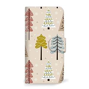 mitas 智能手机壳 手册式 圣诞 冬季 树 A 2_Xperia XZ1 (SO-01K)
