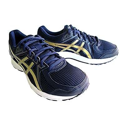 [亚瑟士] 跑步鞋 JOG 100 2 男式 (4994) ブルー×ゴールド 27.5 cm