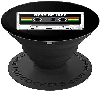 生日礼物 Best of 1938 复古盒式胶带 PopSockets 手机和平板电脑握架260027  黑色
