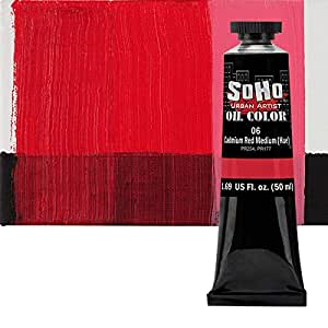 SoHo 都市艺术家油漆 - ASST Cadmium Red Medium Hue 50 ml Tube SH050-6