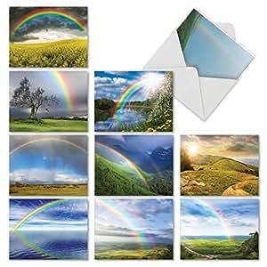 MPTY32 Vistas/Views Mini Thank You 文具记事卡和信封*佳卡牌公司 M4963TYG-B1x10 Rainbow Bright Thank You Notecard Set