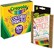Crayola 100 支铅笔/铅笔套装彩色铅笔