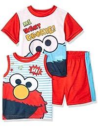 Sesame Street 男童艾蒙和饼干怪 3 件套睡衣套装