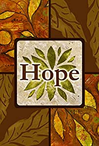 Toland Home Garden Amber Hope 12.5 x 18 Inch Decorative Inspirational Fall Autumn Leaves Double Sided Garden Flag