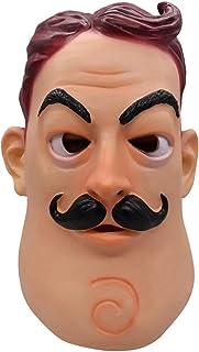 Cafele 万圣节Hello Neighbor Masask Cosplay 玩具乳胶头盔化妆舞会派对用品(邻居面具)
