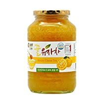 全贤 蜂蜜柚子茶1kg 韩国原装进口柚子酱果肉含量60%蜜柚茶