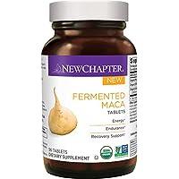 New Chapter 玛卡补充剂 - 能量 + 耐力 + 恢复支持。被发酵的玛卡片剂 - 96 克拉