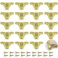 PGMJ 20 件盒装腿,首饰盒腿复古设计装饰,复古木箱五金件,首饰盒,礼品盒,酒盒,工具箱,橱柜,橱柜 金色