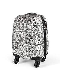MasterGear 儿童行李箱,手提箱尺寸,4 轮(360 度),手推车,旅行箱,硬壳箱,ABS,密码锁
