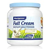 Maxigenes 美可卓 高钙全脂奶粉 1kg(澳大利亚进口) (跨境自营,包邮包税,新老包装交替发货)