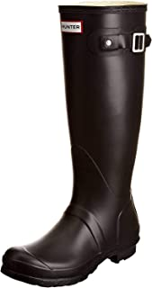 Hunter Original Tall, Rain Boots -Women and men size options Black (Black) 8 UK
