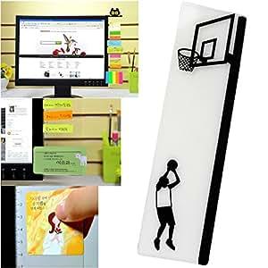 ExcelityFashion 电脑显示器侧面板多功能备忘板 透明消息板粘贴板 Basketball-Left